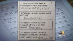 Middle schoolers tested on 'trophy wife' and 'boy toy.'