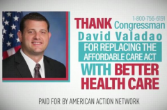 The conservative PAC American Action Network accidentally ran ads praising Republican lawmakers for repealing the Affordable Care Act. The ads aired hours after the measure failed in the House. Screen shot courtesy American Action Network via YouTube