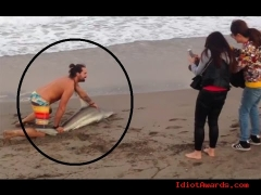 Man Wrestles Shark