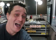 Alex Bowen cooked up his own meal at an empty Waffle House in West Columbia, S.C.